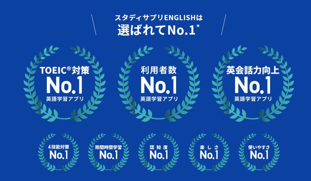 スタディサプリENGLISHビジネス英語コースはNo1英語学習アプリ
